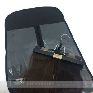 Black Wooden Extension Hair Hangers Wooden Pants Skirt Clamps pictures & photos