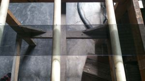 Euro Grey Louvre Glass with Polished Edge Work pictures & photos