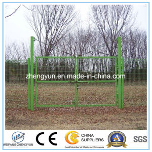 Round Tube Welded Wire Mesh Fence Garden Gate Door