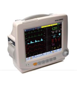 8.4inch Transport Transfer Emergency Patient Monitor, Touchscreen Handheld ICU Vital Signs Monitor ECG EKG SpO2 NIBP Monitor (SC-STAR8000H)