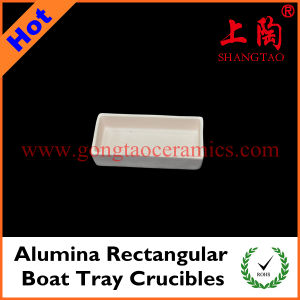 Alumina Rectangular Boat Tray Crucibles pictures & photos