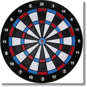 "Noiseless Practice Dartboard for Tournament or Professional Players 15-3/4"" Target"