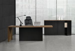 High Quality Executive Office Table with Steel Pedestal