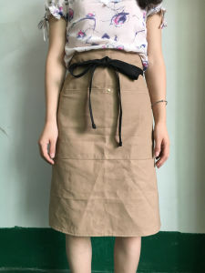 China Factory Custom Cotton Kitchen Waist Apron for Women Wholesale