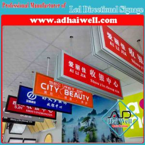 Hanging Acrylic LED Directional Signage pictures & photos