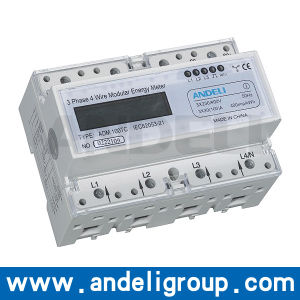 Three Phase DIN-Rail Watt-Hour Meter (ADM100TC) pictures & photos