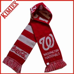 Unisex Customized Woven Jacquard Soccer Knitted Scarf pictures & photos
