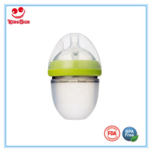 Food Grade Wide Neck Silicone Baby Bottle for Newborn 120ml pictures & photos