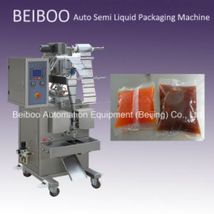 Automatic Semi Liquid Filling Packaging Machine for Soft Pouch Liquidyogurt, Shampoo, Honey, Water, Juice) (RS-100S)