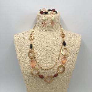 Wholesales Layers Necklace with Beads and Crystal Jewelry Sets