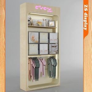 China Wooden Baby Clothes Display Stand Zs 702 China Wooden Baby