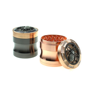 Good Quality Hot Selling WiFi Shape with Diamond 63mm Zinc Alloy 4 Parts Customized Herb Grinder