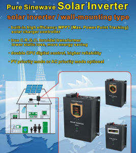 12/24/48VDC Hybrid Solar Inverter with 60A Max Solar Charger Controller