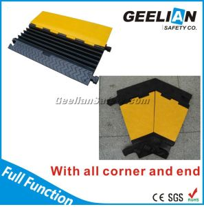 5 Channel Rubber Cable Ramp Protector for Traffic Safety