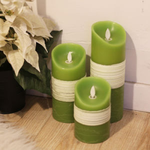 Swing Wick LED Electronic Candle Pillar Flameless Candle pictures & photos
