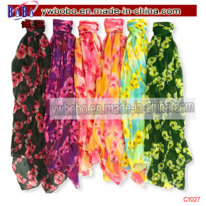 Silk Scarf Polyester Scarf Buff Wraps Shawl Stole Yiwu Freight (C1026) pictures & photos