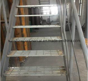 Hot Dipped Galvanized Platform Steel Stair