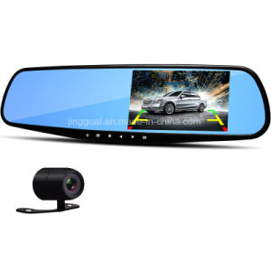 "4.3"" Rearview Mirror 1080P Car DVR Dual Lens Video Recorder Dash Cam pictures & photos"