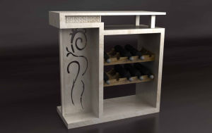 High End Natural Marble Console Table with Wine Cabinet (TCT-003)