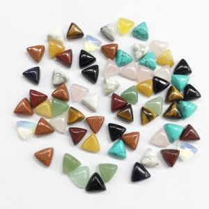 Mixed Color Cab Cabochon 10mm Triangle Beads pictures & photos