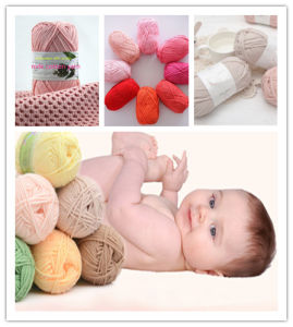 China Soft Milk Crochet Cotton Knitting Yarn Baby Yarn Knitting Wool