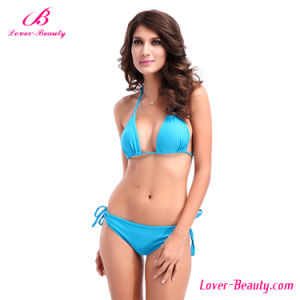 Blue Beachwear Sexy Mature Bikini Swimwear