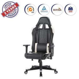 Computer Gaming Chair Office Adjustable Swivel Task Desk Seat High Back Leather