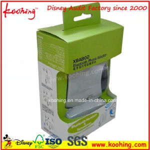 Custom Printed Cardboard Advertising Packaging Box with Die Cut Handle pictures & photos