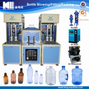 2 Cavity Semi Automatic Pet Plastic Bottle Blowing Machine Price pictures & photos