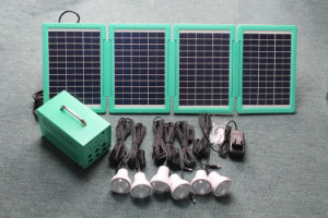 6 PCS Room LED Lights Solar Rechargeable Lead-Acid Battery Lighting Kits pictures & photos
