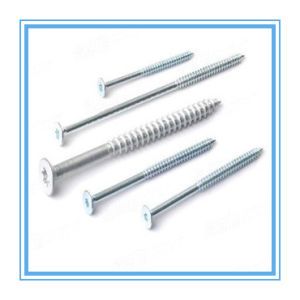 Csk Head Zinc Plated Chipboard Screw (DIN7505) pictures & photos