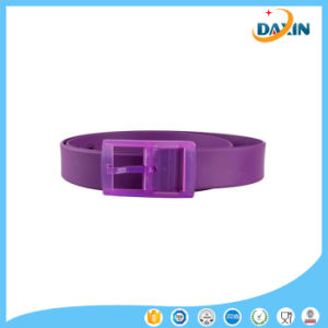 2016 New Unisex Stylish Candy Colours Silicone Plastic Belt Black pictures & photos