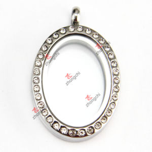 Stainless Steel Oval Shape Magnet Floating Charm Locket