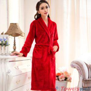 dd2574e5fa China Soft Microfiber Coral Fleece Bathrobes for Women - China ...