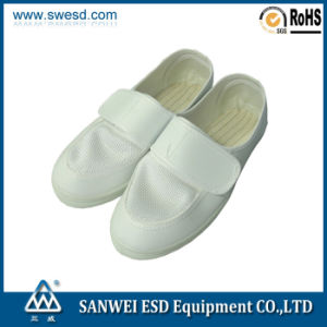 ESD Mesh Leather Shoes with Magic Strap (3W-9106) pictures & photos