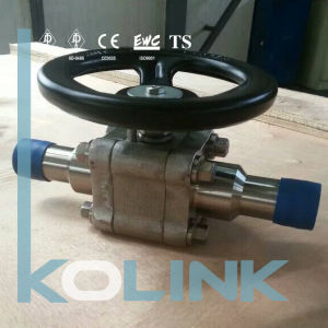 3PC Ball Valve with Extended Body and Handwheel Operation