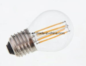 Dimmable G45 4W 400lm E27 LED Filament LED Bulb with CE RoHS Aproved