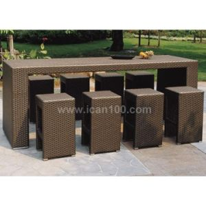 High Quality Wicker Bar Furniture (BF-1003) pictures & photos