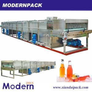 Continuous Spray Sterilizing Machine for Bottle Milk Juice Tea pictures & photos
