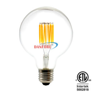 Ce UL ETL 2016 Hot 8W 10W Edison Style G30 G95 Glass LED Light Lamp Filament LED Bulb