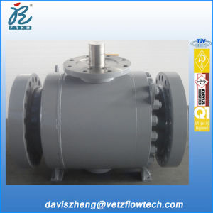 16 Inch Class 600 RF End A105 Trunnion Mounted Bolted Cover Pipeline Ball Valves with Gearbox