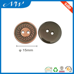 2 Hole Zinc Alloy Button, Customized Sizes Are Welcome