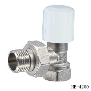 (HE4200--HE4201) Radiator Valve with Zinc, Aluminum or Plastic Handle for Water