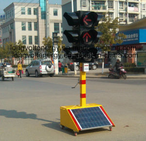 China 4 Sides Solar Led Traffic Light With Three Colours China Traffic Signal Light Warning Light