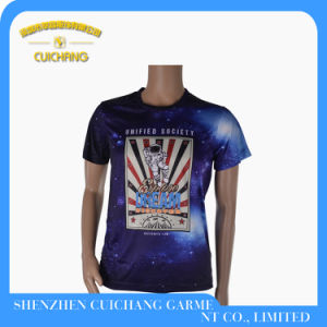 High Quality Heat Sublimation Printing Men′s T-Shirt
