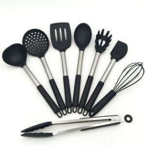 FDA Amazon Silicone Stainless Steel Handle Kitchen Utensil Sets