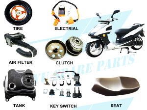 Supply Complete Gy6 125cc 150cc Motorcycle Parts