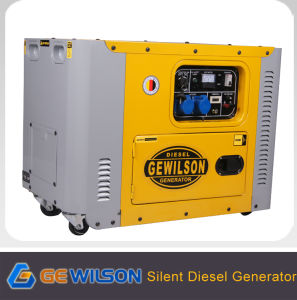 Gewilson Portable Lower Noise Diesel Generator 5kw to 7kw pictures & photos