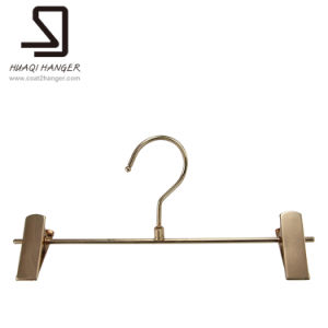China Wire Cloth Hanger With Clips Metal Garment Hanger With Clips