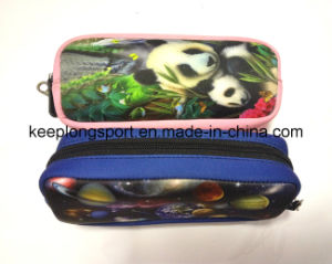 Full Colors Printing Neoprene Pencil Bag with Zipper Clised